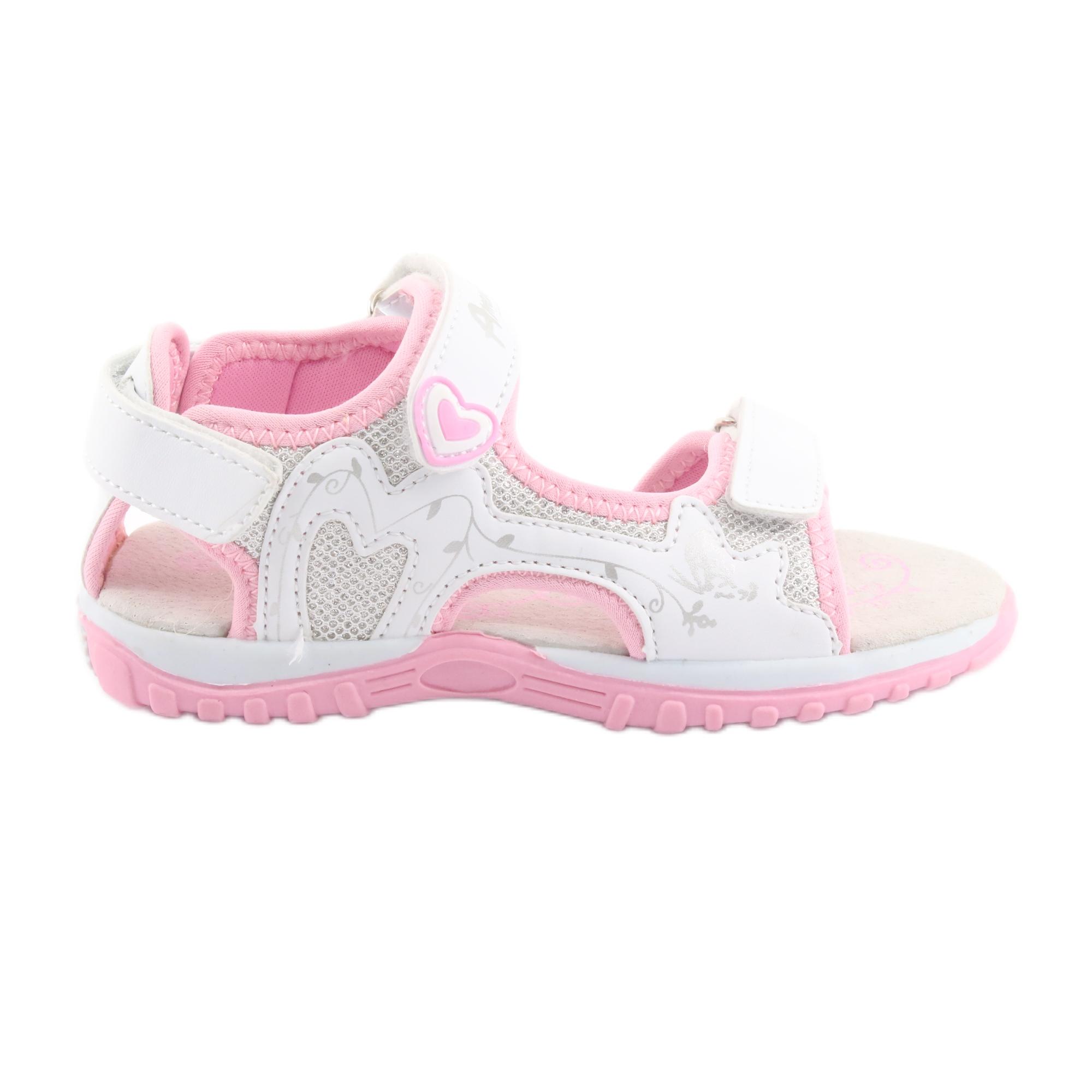 Sandali da donna di American Club bianco grigio rosa
