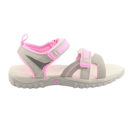 Sandali da bambina American Club grigio / rosa