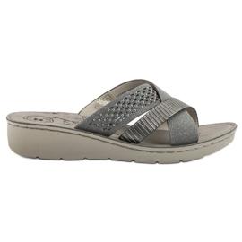 Evento grigio Comode pantofole grigie