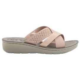 Evento rosa Comode pantofole in polvere