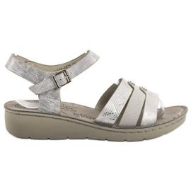 Evento grigio Sandali d'argento