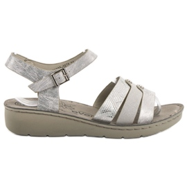 Evento Sandali d'argento grigio