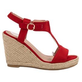 Anesia Paris rosso Sandali con zeppa alla moda