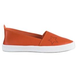 Kylie arancione Sneakers senza lacci