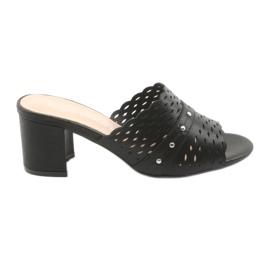 Pantofole nere da donna Sergio Leone KL319 nero