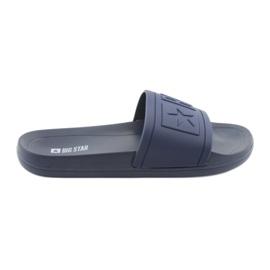 Pantofole Big Star profilate 174688 blu navy marina