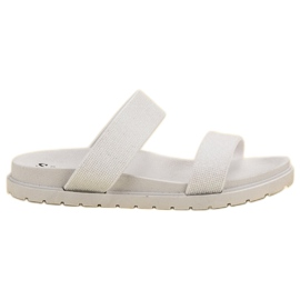 Seastar Pantofole lucenti bianco