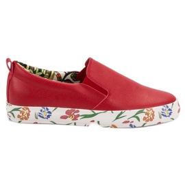 Groto Gogo rosso Slipony alla moda