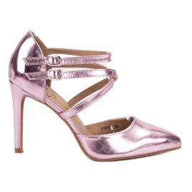 Kylie rosa Borchie di moda lucido