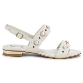 Kylie bianco Comodi sandali piatti