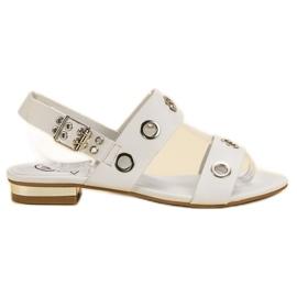 Kylie bianco Sandali bianchi casuali