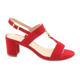 Sandali sul post rosso Caprice 28303