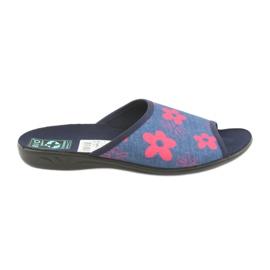 Pantofole da donna in fiori blu navy Adanex