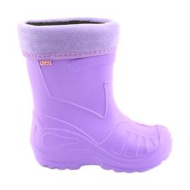 Stivali da pioggia per bambini Befado viola 162P102 porpora