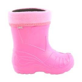 Scarpe per bambini Befado galosh pink 162 rosa