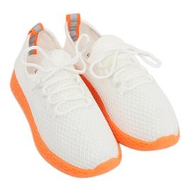 Scarpe sportive bianche e arancioni NB283 Fluorescenza Arancione