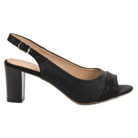 Evento nero Eleganti sandali neri