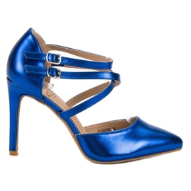 Kylie blu Borchie di moda lucido