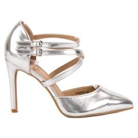 Kylie Borchie di moda lucido grigio