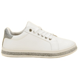 SDS Scarpe sportive con zirconi bianco