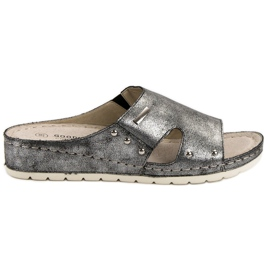 Goodin grigio Comode pantofole