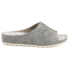 Goodin grigio Pantofole traforate