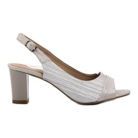 Evento grigio Eleganti sandali argento