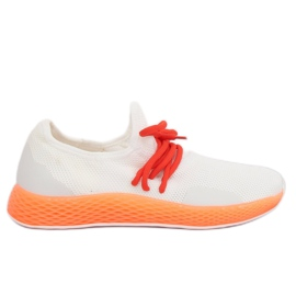 Scarpe sportive bianco-arancio B-6851 Arancione