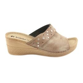 Marrone Pantofole da donna Inblu OS007