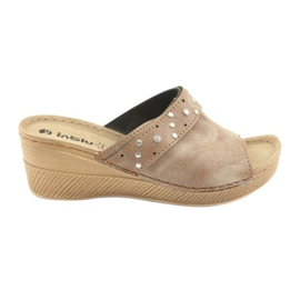 Pantofole da donna Inblu OS007 marrone