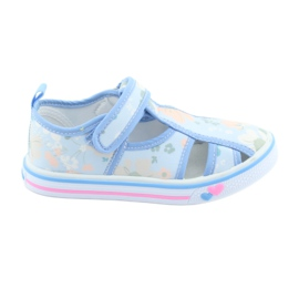 American Club Scarpe americane per bambini con pelle intarsiata in velcro
