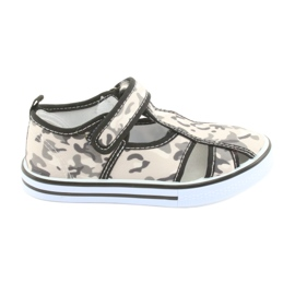 Scarpe da bambino American Club con pelle intarsiata in velcro