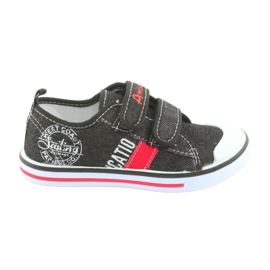 Sneakers in velcro Jeans American Club neri