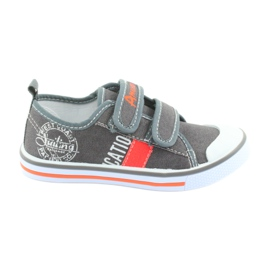 Sneakers in velcro Jeans American Club grigio