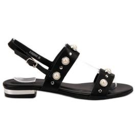 Kylie nero Comodi sandali neri