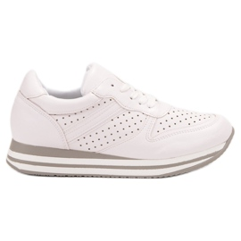Kylie bianco Scarpe sportive con pelle ecologica