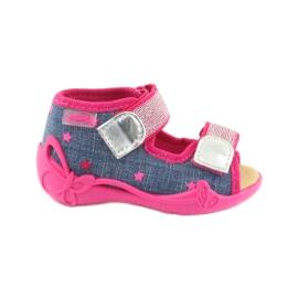 Pantofola inserti in pelle sandali Befado
