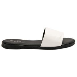 Clowse bianco Pantofole bianche classiche