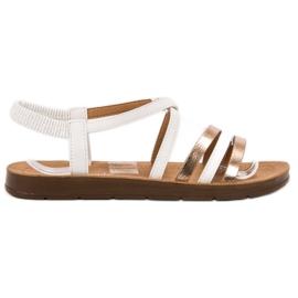 Super Mode bianco Sandali infradito alla moda
