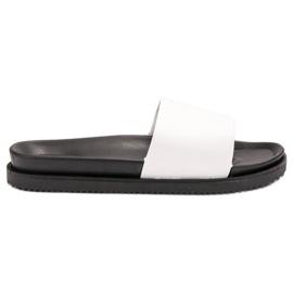 Clowse bianco Pantofole da donna bianche