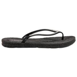 Seastar nero Flip-flop con zirconi