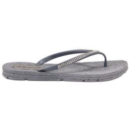 Seastar grigio Flip-flop con zirconi