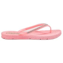 Seastar rosa Flip-flop con zirconi