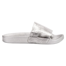 Small Swan grigio Pantofole da donna casual