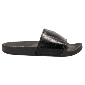 Small Swan nero Pantofole da donna casual
