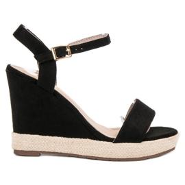 Seastar nero Espadrillas Black Sandals