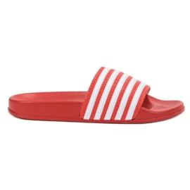 SHELOVET Pantofole sportive con cinture rosso
