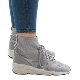 Grigio Sneakers sportive grigie 7S566