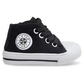 Nero Sneakers alte per bambini Y1309 nere