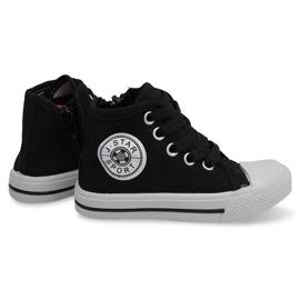 Nero Sneakers alte per bambini Y1312 nere